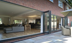 Grey UPVC Bifolding Door