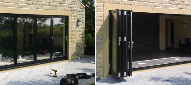 Black Accordion Doors : Bifolding doors in hayling bi folding hampshire
