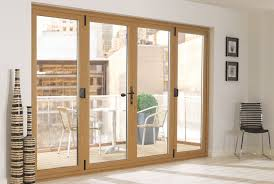 Upvc Bifolding Door 4 panel configuration on a 2-2 split